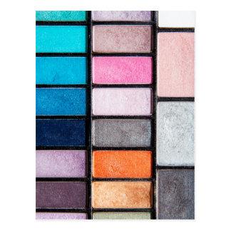 Makeup Palette - Beauty Cosmetics Print Postcard