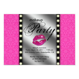 Makeup Party Invitation Advertisement Mirror