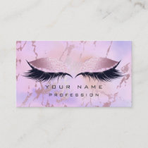 Makeup Purple Pink Eyes Lashes Glitter Ombre Business Card