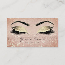 Makeup Rose Gold Lashes Extension Studio Confetti Appointment Card