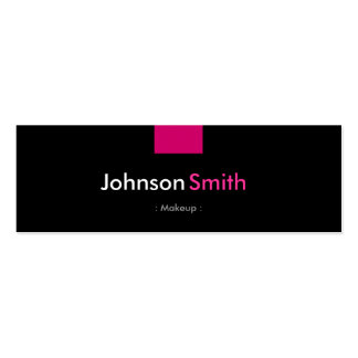 Makeup - Rose Pink Compact Double-Sided Mini Business Cards (Pack Of 20)