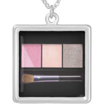 Makeup Silver Plated Necklace