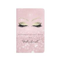 Makeup Stylist Beauty Salon Lashes Glitter Gold Journal