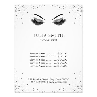 Makeup with glitter effect flyer