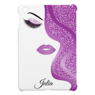 Makeup with glitter effect iPad mini cover