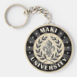 Maki University Black Keychains