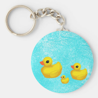 Makin' a Splash! Rubber Ducky Keychain