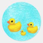 Makin' a Splash! Rubber Ducky Seals Sticker