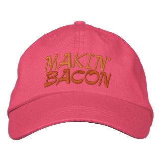 Makin' Bacon Embroidered Baseball Caps