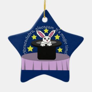 Makin' Magic Bunny Ceramic Ornament