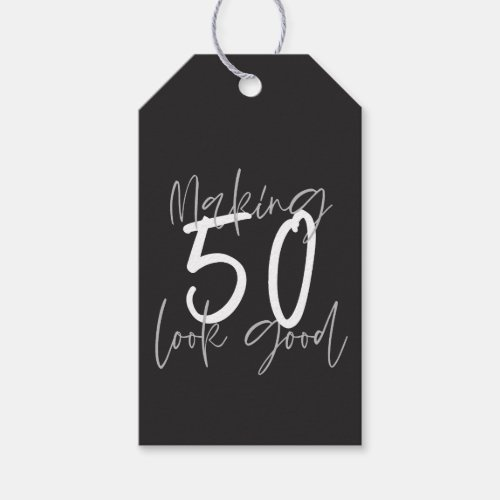 Making 50 look good birthday thank you gift tags
