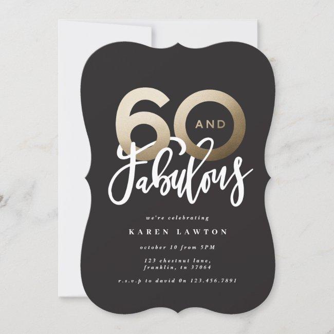 Making 60 look good modern typography birthday