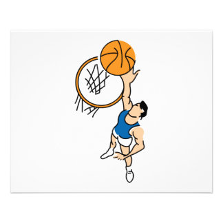 making a dunk simple basketball graphic full color flyer
