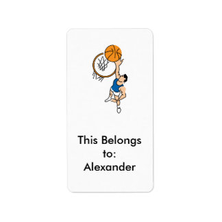 making a dunk simple basketball graphic label