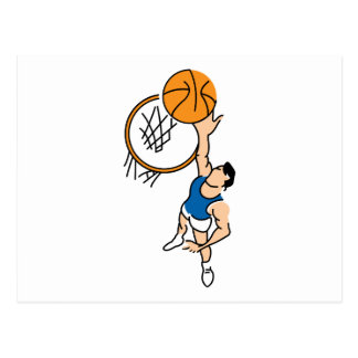 making a dunk simple basketball graphic postcard