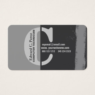 Making A Mark Bold  C Monogrammed  Unisex Business Card