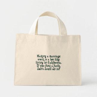 Making a marriage work is a lot like... mini tote bag