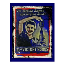 Making Bombs and Buying Bonds Postcard