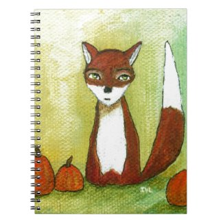 Making Choices Woodland Fox Art Painting Note Books