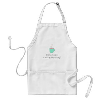 Making Coffee Cute Saying Adult Apron