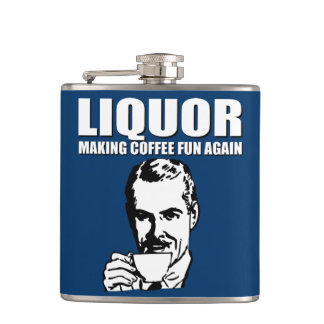 Be sure to check out Zazzle's great collection of Father's Day gifts, like these funny flasks.