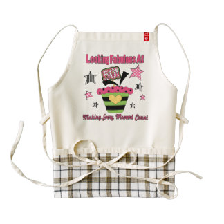 Making Every moment count 50th pink copy.png Zazzle HEART Apron
