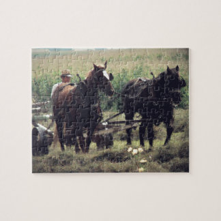 Making Hay With Horses Jigsaw Puzzle