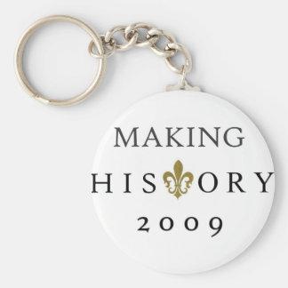 MAKING HISTORY 2009 WHODAT NATION KEYCHAINS
