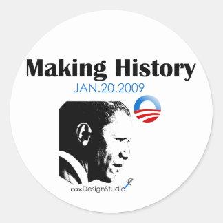 Making History Classic Round Sticker