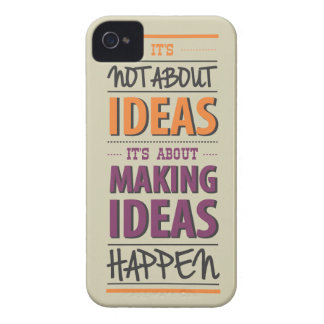 """Making ideas happen"" quote Case-Mate iPhone 4 Case"