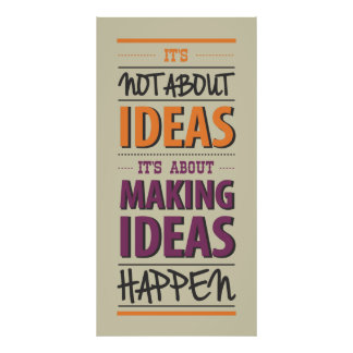 """Making ideas happen"" quote Poster"
