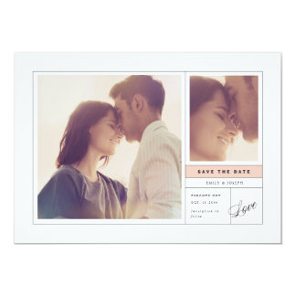 Making it Official Save The Date // Blush Card