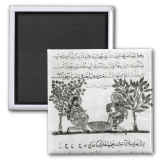 Making Lead, page from an Arabic edition 2 Inch Square Magnet