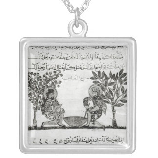 Making Lead, page from an Arabic edition Square Pendant Necklace
