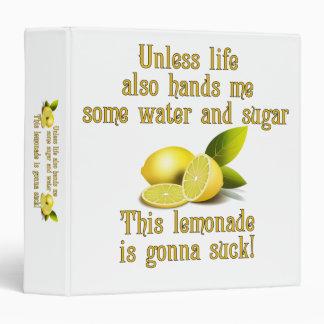 Making Lemonade 3 Ring Binders