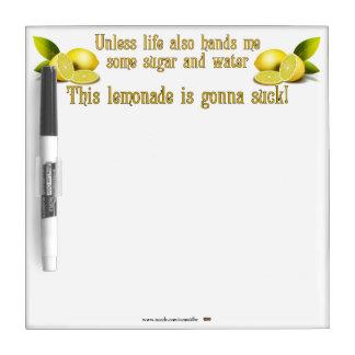 Making Lemonade Dry-Erase Board
