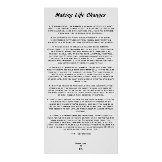 Making Life Changes Print