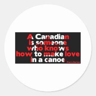 Making Love in a Canoe Classic Round Sticker