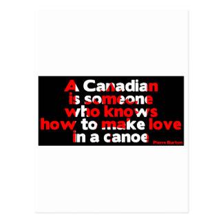 Making Love in a Canoe Postcard