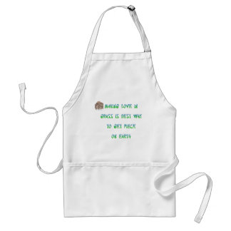 Making love in grass is best way to get piece ... adult apron