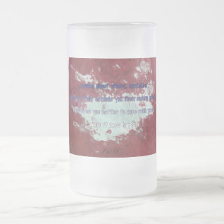 Making mistakes - Frosted Beer Mug