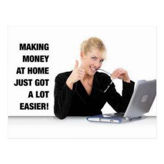 'Making money at Home' postcard