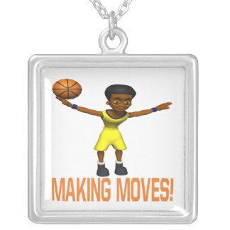 Making Moves Square Pendant Necklace