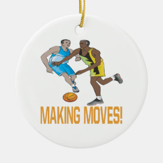 Making Moves Double-Sided Ceramic Round Christmas Ornament