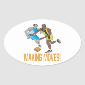 Making Moves Oval Sticker