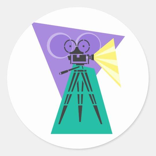 Making Movies Classic Round Sticker