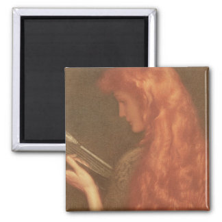 Making Music (pastel on paper) 2 Inch Square Magnet