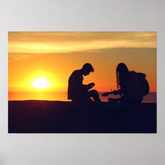 Making Music / Sunset poster