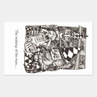 Making-of-the-man by Brian Benson Rectangular Sticker