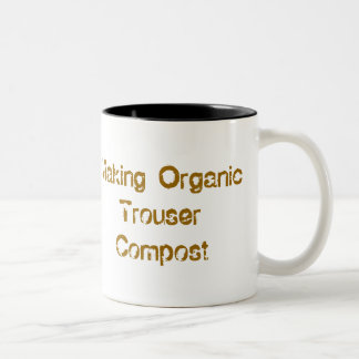 Making Organic Trouser Compost Coffee cup